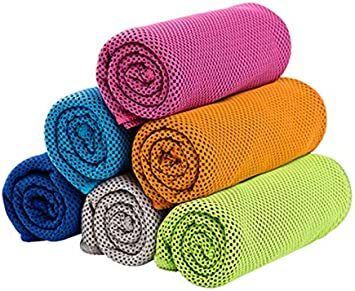 Ice Cooling Towel Cold Running Jogging Gym Chilly Pad Sports Yoga 1//2//4//6 Pack
