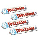 Toblerone White Chocolate with Honey and Almond Nougat Pack of 4, x 100 g