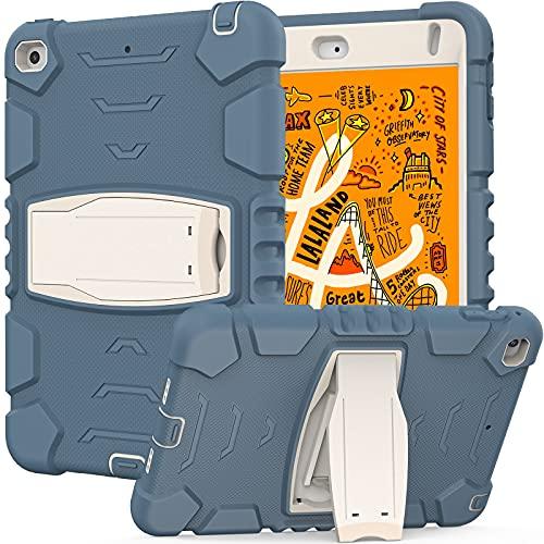 ZHIWEI Tablet PC Bag Caso per Bambini per iPad Mini4   5, Tre Layer PC + TPU Hybrid Hybrid Heavy Duty Duty Antiurto Antiurto Caso di Copertura Protettiva, Coperchio del Supporto in Silicone Morbido