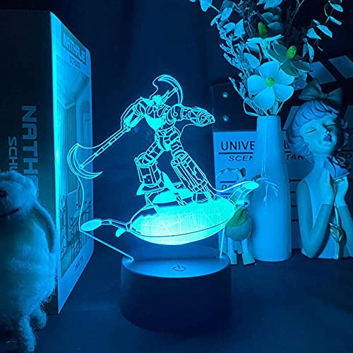 3D Anime Lamp Illusion Light Nightlight Japonais Ufo Robot Goldorak Chambre Led Veilleuse Lampe Pour Enfants Filles Cadeau D'Anniversaire Lampe De Bureau En Plus-Remote control