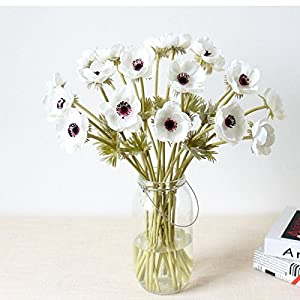 Artifical Real Touch PU Anemone Flower Bouquet - for Home Decoration