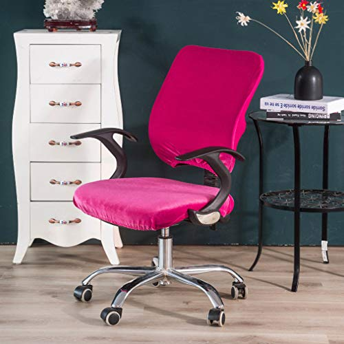 Price comparison product image ANOSORA Velvet Office Computer Armchair Cover Split Style Seat Covers Stretch Rotating Lift Chairs Cases