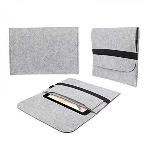 eFabrik Tasche für Blaupunkt Endeavour 1001 DVBT 10.1 Filz Hülle Tablettasche Sleeve Hülle Soft Cover Schutzhülle hell grau