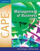 Management of Business for CAPE Unit 2: Volume 2 (Caribbean)