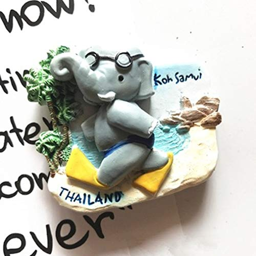 Bella Magneti per FrigoriferoCalamite da Frigo Viaggio Souvenir del Modo Thailandia Koh Samui Elefante Fridge Magnet Sticker