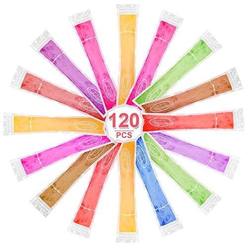 TAGVO EIS Pop Form, gesunde hausgemachte Snack, Gefrierschrank Pop, Gogurt, EIS-Süßigkeit, BPA frei und FDA genehmigt Popsicle Maker mit Ziplock (Set von 120 Pack)