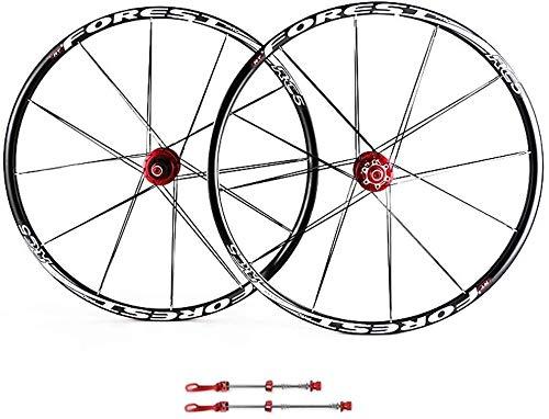 AIFCX 26 Pouces vélo Wheelset, VTT Vélo Roues 27.5 Pouces VTT Frein à Disque Jeu de Roues Quick Release 5 Palin Roulement 8 9 10 Vitesse 100mm,C-27.5inch