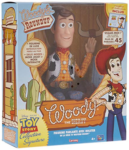 Lansay- Toy Story-Sherif Woody Collection Signature 4 Figurine, 64512