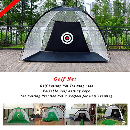 WUTONG Foldable Golf Batting cage Indoor and Outdoor Training Portable Golf...