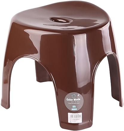 唐草 浴室凳子板凳防滑时尚创意洗澡淋浴凳塑料洗脚凳垫脚搁脚加厚家用 椭圆咖啡色(长31宽31高31cm 尺寸细节有喔