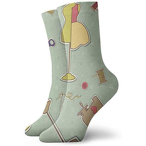 Kevin-Shop Dressmaking Schaar Afbeelding Enkelsokken Casual Gezellige Crew Sokken voor Mannen, Vrouwen, Kinderen