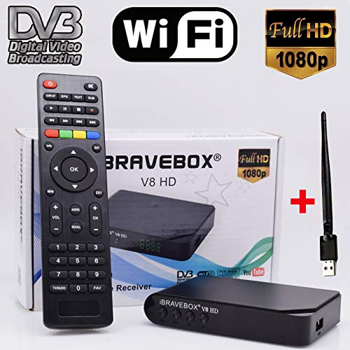 RONSHIN Satelliet Ontvanger iBRAVEBOX V8 HD DVB-S/S2 Full HD Wifi Satelliet Finder