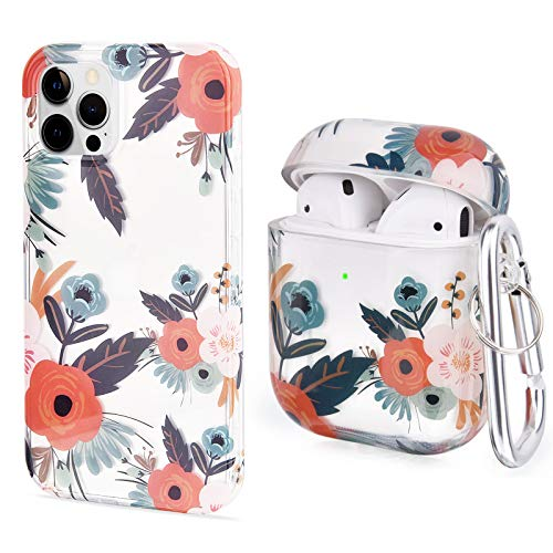 V-MORO Case Compatible with iPhone 12 Pro Max and Airpods, Cute Clear...
