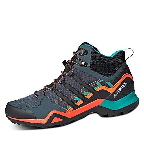 adidas Herren Terrex Swift R2 Mid Gore-TEX Walking Shoe, Legacy Blue/Core Black/Signal Orange, 46 EU