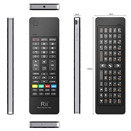 Rii K13 5 in 1 Multifunction Mini Wireless Keyboard with Fly Mouse, IR Learning Remote
