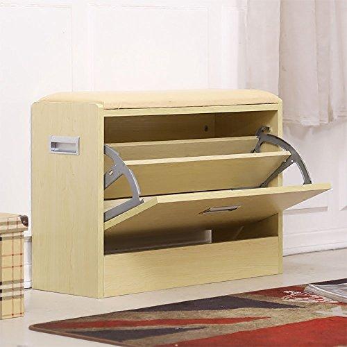 ZXQZ Bascule tabouret canapé changer de chaussures Tabouret / chaussure créative / moderne Foyer pouf / armoire de rangement repose-pieds de stockage ( Couleur : B , taille : 63cm )