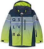Quiksilver Mission - Chaqueta Para Nieve para Chicos, Verde (Lime Green/ Block Volley Youth), 8/S