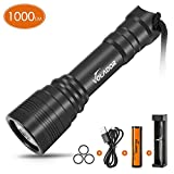 VOLADOR Diving Flashlight, 1000 Lumen Waterproof...