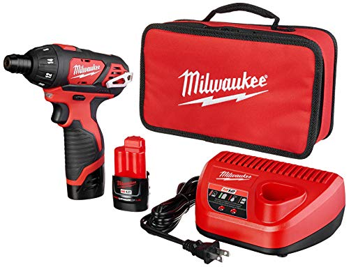 Product Image of the Milwaukee 2401-22 M12 12-Volt Lithium-Ion 1/4 in. Hex Screwdriver Kit