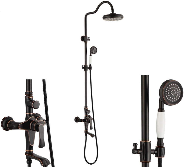 LHW Shower Set chset, Kupfer, Schwarze Dusche, Handbrause, Multifunktionsdusche, WC Dusche, Heiwasserdusche, Dusche, Wandduschkopf