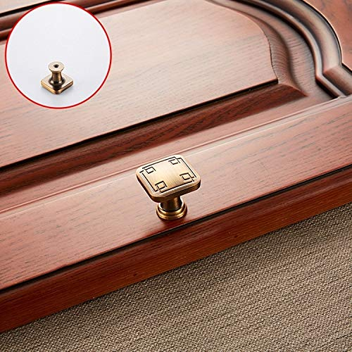 MENGYUE Handle 5 PCS 6200 Coffee Single Hole Solid Zinc Alloy Cabinet Wardrobe Drawer Door Square Handle` handle knobs