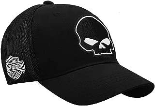Harley-Davidson Willie G Skull Black Baseball Cap Stretch Fit BC119930