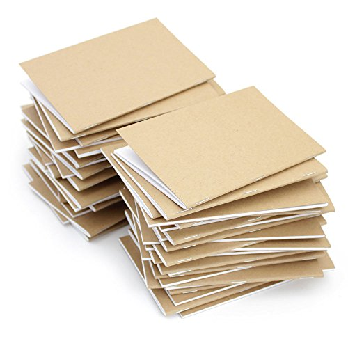 Kraft Notebook, BEECH TREE PAPER�, 3.5 X 5.5 Inches, Set of 50, Bulk Notebooks, Kraft Brown, Blank Pages, Blank Cover, Small Kraft Journals Bulk, Made in the USA with 100% Recycled Content