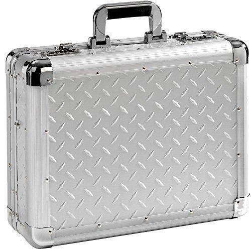 Valigetta Valigia Attaché per PC portatili Alluminio Argento a 17 pollice XL