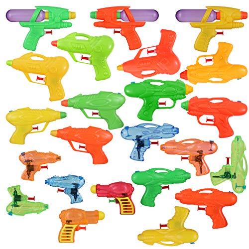 Toyvian Squirt Guns Party Pack,Verschiedene Wasserpistolen Kinder Sommer Schwimmbad Strand Toy Water Squirt Wasser Kampfspielzeug (24 Pack)