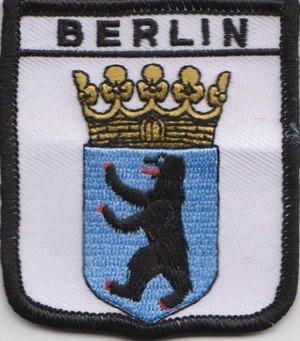 """1000 Flags Aufnäher """"Berlin"""" Deutschland, Wappen, bestickt"""