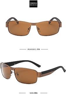 GYBTYJDD Exquisito polarizador de Metal, conducción de Visera para el Sol al Aire Libre, Gafas de Sol Anti-UV, Espejo de Playa de Gran tamaño con Tendencia al Aire Libre, Hombres y Mujeres