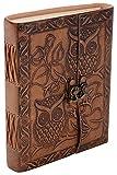 Diário de coruja | Diário de coruja de couro | Coruja | Presentes de coruja para homens | Diário de coruja para mulheres | Coruja de couro em branco | Coruja para livro de esboços de couro