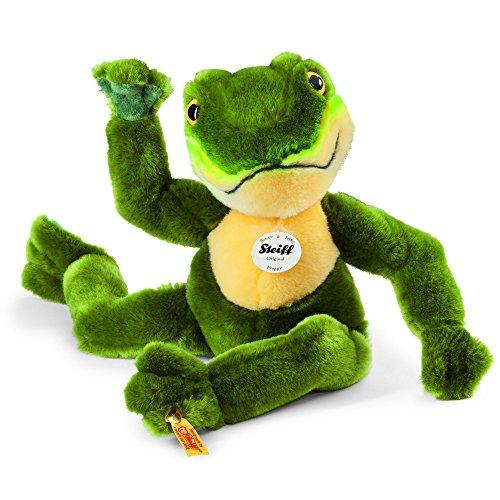 Steiff 064586 - Froggy Schlenker Frosch, Plüschtier, 30 cm, grün/gelb