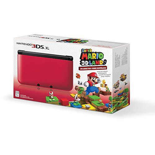 Nintendo 3DS XL Red/Black with Super Mario 3D Land Download [video game]