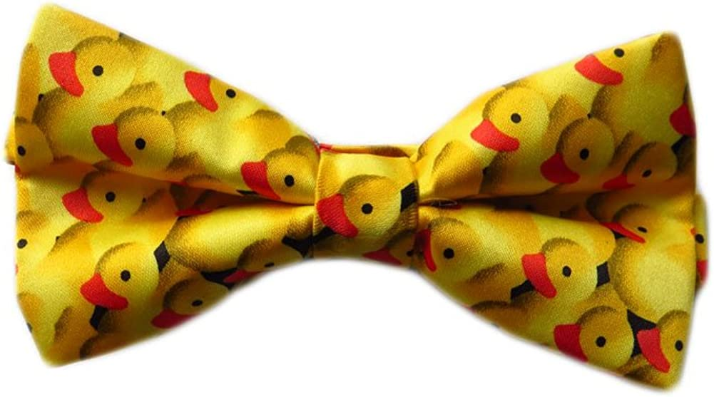 DanggiMan Men's Rubber Duck Ducky Bowtie Bow Tie - Yellow - One Size