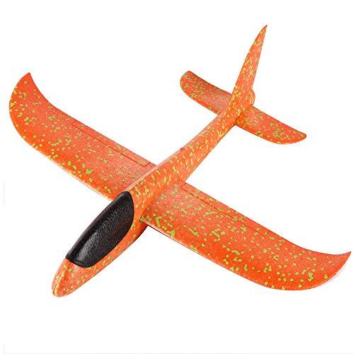 TUDUZ 0619001 2 stücke Schaumwurfgleiter EPP Blau+Rot – 44cm Spannweite, Super leicht, Fast Unzerstörbar, Looping, Gleitflug, Outdoor-Sportarten Spielzeug (33x34cm, Orange)