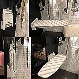 ybaymy Bügelbrett Klappbar Wandmontage Bügelbretter Bügeltisch-Bezug Wand-Bügelbrett mit hitzebeständiger Abdeckung Hochklappen 180° drehbar Platzsparend Wand-Bügelbrett mit Befestigungsmaterial -Weiß