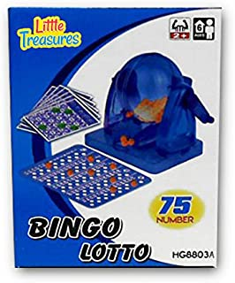 Little Treasures Bingo Game an Educational 75 Number Bingo Set Lottery Party Game (2 to 10 Players ? Ages 6 +)