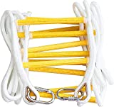 ISOP Fire Escape Rope Ladder 2 Storey 5m (16ft) - Flame Resistant Safety Ladders with Hooks for Adults. Weight...