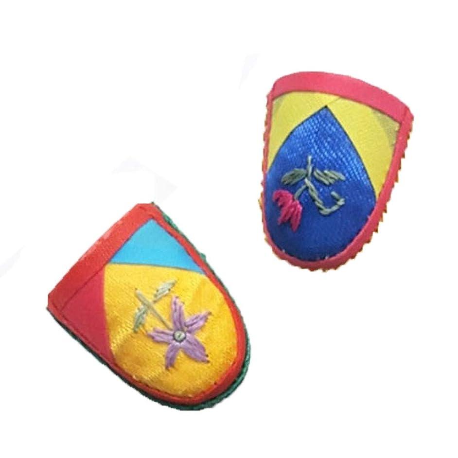 Mj Traditional Korean Thimbles Sewing Thimble Finger Protector,Protector Pin Needles Sewing Quilting Craft Accessories DIY Sewing Tools, Random Shipment 2pcs