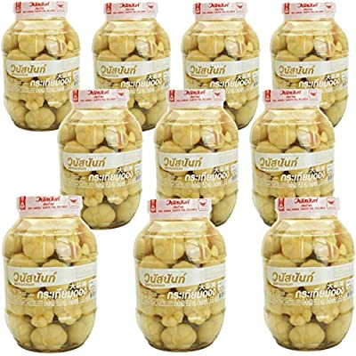 Wholesale Vanussanun Pickled Garlic Bottle Jar 33.5 oz 950 gram Thai Style (10 Bottle) from Vanussanun