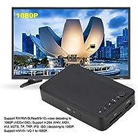 オーディオビデオプレーヤー、HDMIメディアプレーヤー1080P HD多目的、USBドライブ用ハードドライブ用SDカード用リモコン付き(U.S. regulations, Transl)