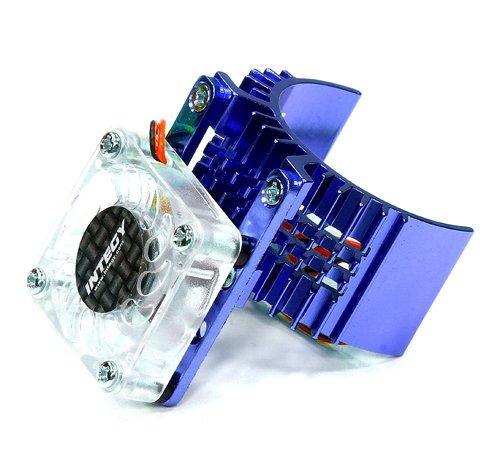 Integy RC Model Hop-ups T8074BLUE Motor Heatsink 540 Size w/Cooling Fan for Slash Stampede 2WD Rustler 2WD Bandit