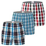 YFD - Pantalones cortos cortos para hombre, 100% algodón, para dormir y descansar, 3 unidades Paquete de 3 a 2 unidades. XXL