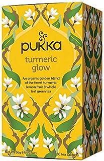 Sponsored Ad - Pukka Herbs Turmeric Glow, Organic Herbal Tea With Lemon & Whole Leaf Green Tea, 20 Count (Pack of 3)