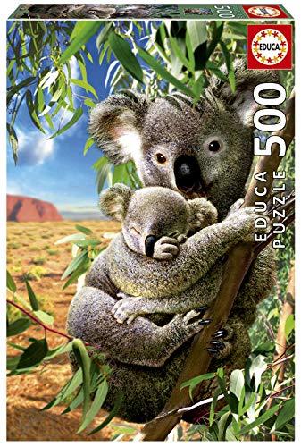 Koala con su Cachorro. Puzzle de 500 pieazas. Ref. 18999, Multicolor