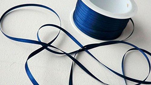 Schleifenband 50m x 3mm DUNKELBLAU blau SATINBAND Geschenkband DEKOBAND