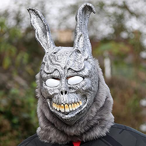 GJPSXTY Halloween Ghost Rabbit Frank Rabbit Mscara de ltex Mscara Facial Mscara de Hombre Disfraz de Halloween Decoracin de Fiesta Accesorios