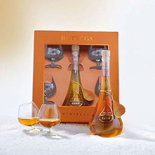 Bottega confezione rarita' oro grappa fume'cl.70+4 bicchieri (1000042082)
