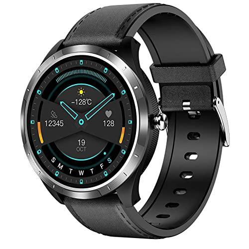 ZGNB X3 Reloj inteligente para hombres con oxígeno en sangre Presión arterial PPG+ECG Monitor de ritmo cardíaco para mujer Fitness Tracker podómetro impermeable reloj deportivo para iOS Android (E)
